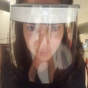 4 REUSABLE FACE SHIELDS nonmedical